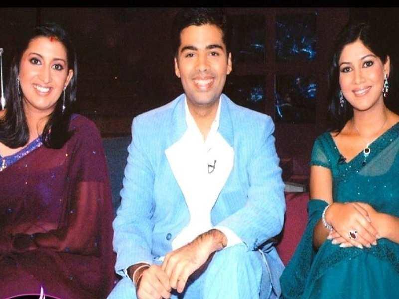 Smriti Irani blames Karan Johar's hamper for her weight gain in this throwback photo from Koffee With Karan