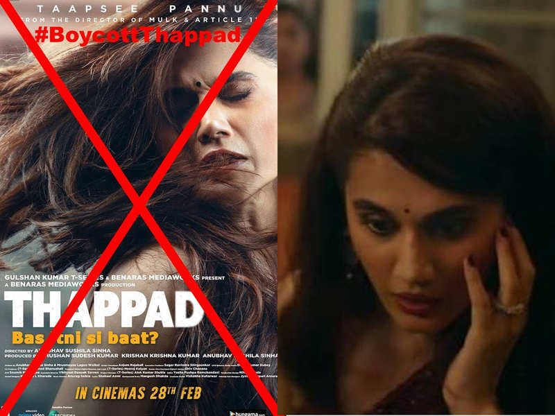 Trolls on Twitter trend #BoycottThappad, calling a ban over Taapsee Pannu's film for her involvement in anti-CAA protests