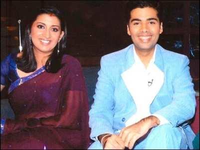 KJo's funny reaction to Smriti's TBT click