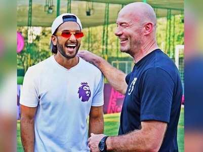 Ranveer meets Footballing royalty Alan Shearer