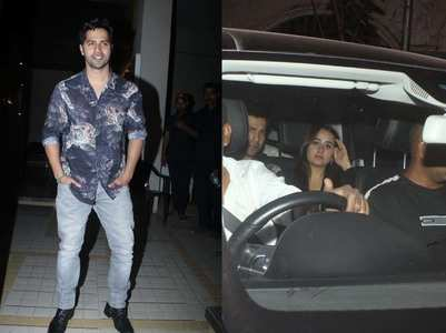 Photos: Varun and Natasha attend birthday bash