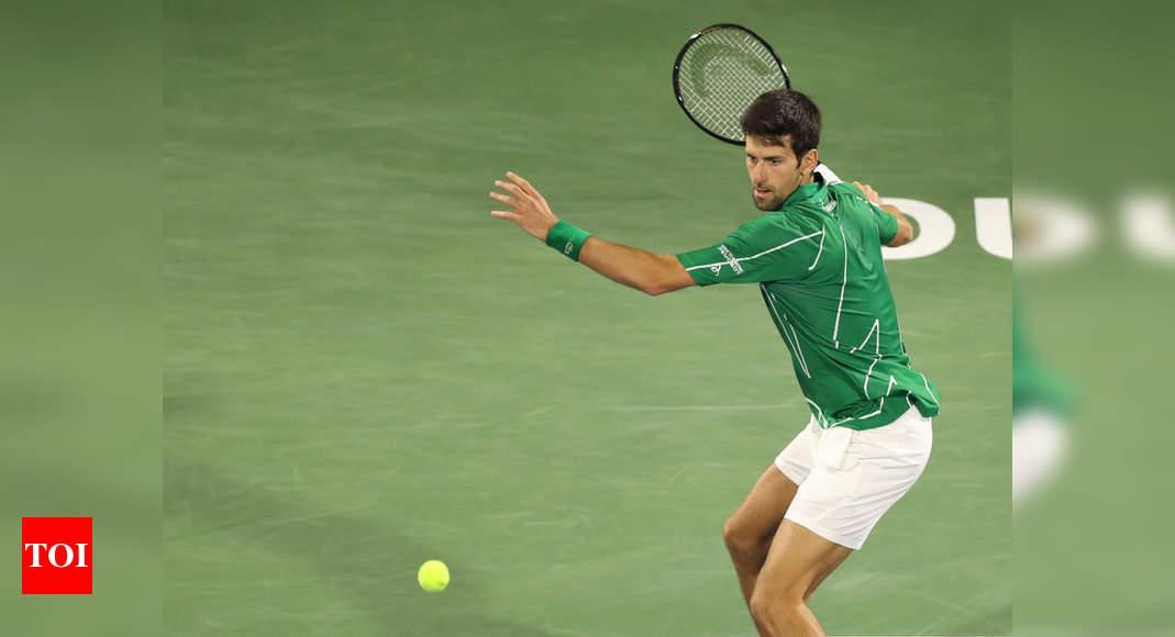 Novak Djokovic Sets Up Dubai Semifinal Against Gael Monfils Tennis News Times Of India