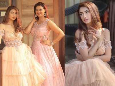 Shweta-Palak look glam in gowns at a wedding