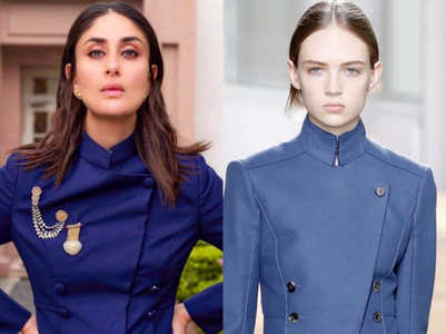 Did Kareena wear a rip off of an international designer?