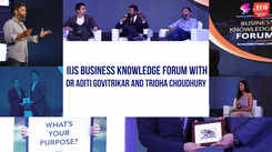 IIJS Business Knowledge Forum with Dr Aditi Govitrikar and  Tridha Choudhury