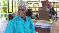 Padma Shri VK Munusamy talks about the materials used in terracotta sculptures