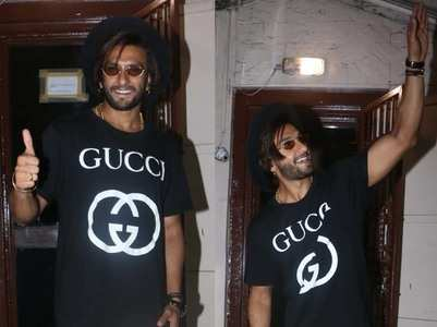 Ranveer pairs tee with most unexpected pants