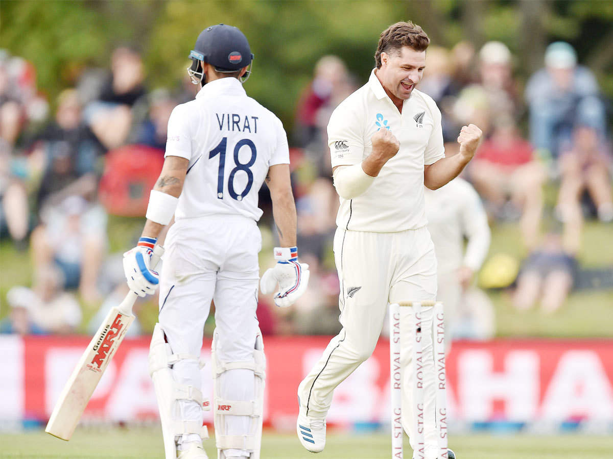 India vs New Zealand, 2nd Test, Highlights: India 90/6 at stumps, lead New Zealand by 97 runs in Christchurch | Cricket News - Times of India