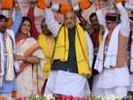 Amit Shah holds mega rally in Kolkata