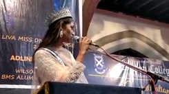 LIVA Miss Diva Universe 2020 Adline Castelino's homecoming at Wilson college, Mumbai