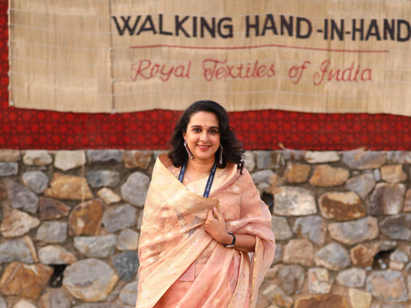 H H Maharani Radhikaraje Gaekwad at 5th edition of Walking hand-in-hand by CDS Art Foundation in Delhi