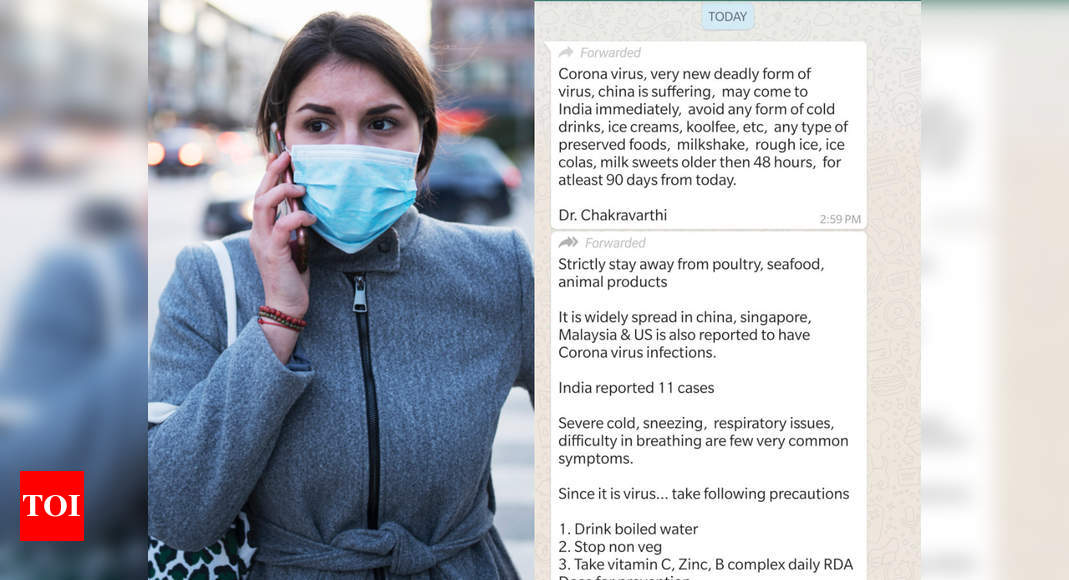 Alert Do Not Believe These Coronavirus Whatsapp Messages And Forwards Times Of India