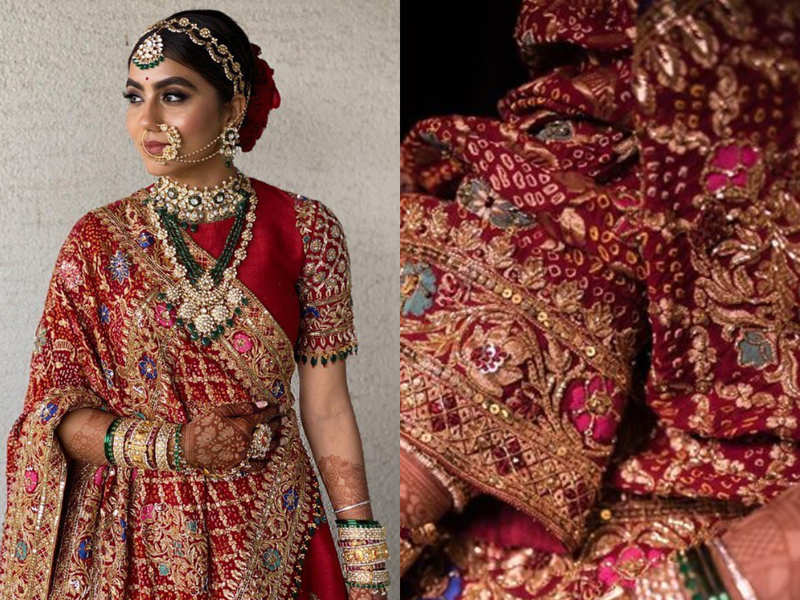 This bride designed her own wedding lehenga and it's gorgeous!