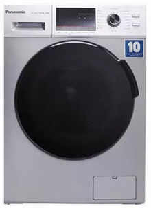 Panasonic 6 Kg Fully Automatic Front Loading Washing Machine (NA-106MB2L01, Silver, Inbuilt Heater)