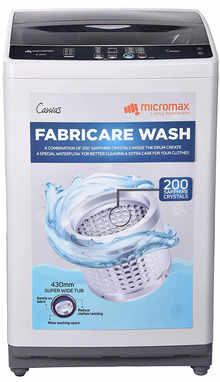 Micromax 8.2 Kg Fully Automatic Top Loading Washing Machine (MWMFA821TTSS2GY, Grey)