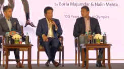 Sachin Tendulkar, Mahesh Bhupathi and Abhinav Bindra talking about their journey at a book launch