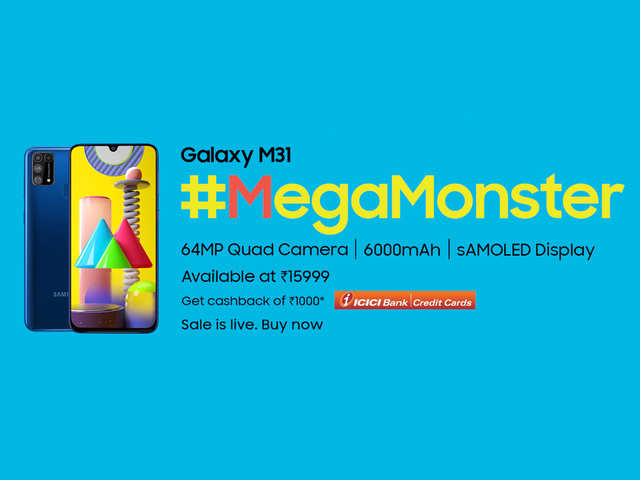 Stealing the limelight - the #MegaMonster Galaxy M31 is a winner all the way under Rs.15K - here's why