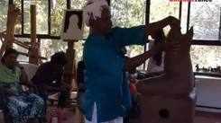 Terracotta sculptor Padma Shri VK Munusamy conducts his maiden workshop