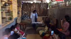 A workshop on eco-friendly sanitary napkins