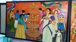 Attukalamma mural exhibition