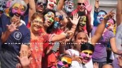 Rangpanchami Dhuliwandan gets a colourful makeover with face painting