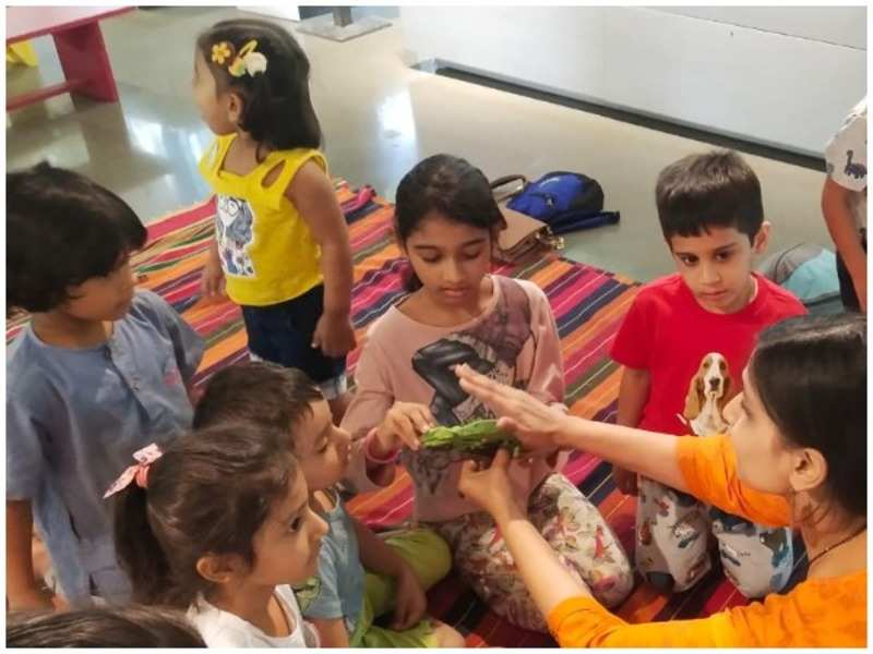 Kids participate in an interactive session