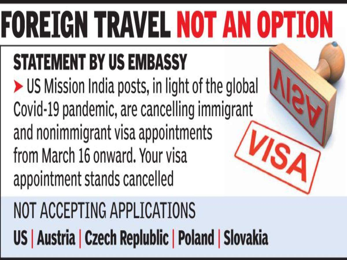 Us Embassy Cancels Visa Appointments From Mar 16 Hyderabad News Times Of India