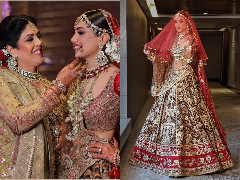 This Indian bride and her mother looked picture perfect on former's wedding