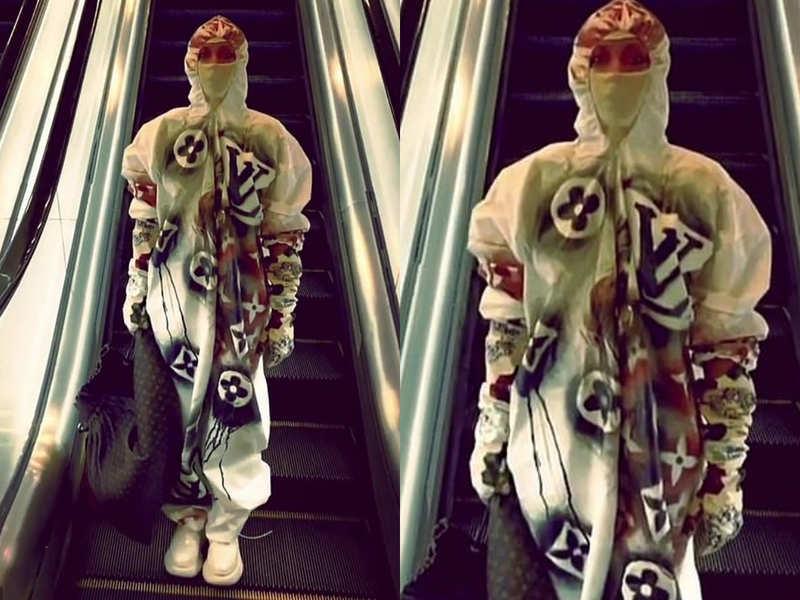 This famous singer's Louis Vuitton Coronavirus protection hazmat suit is going viral