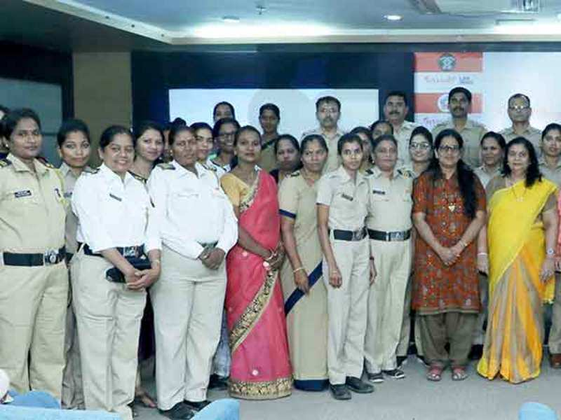 At the event for the medical screening conducted for policewomen