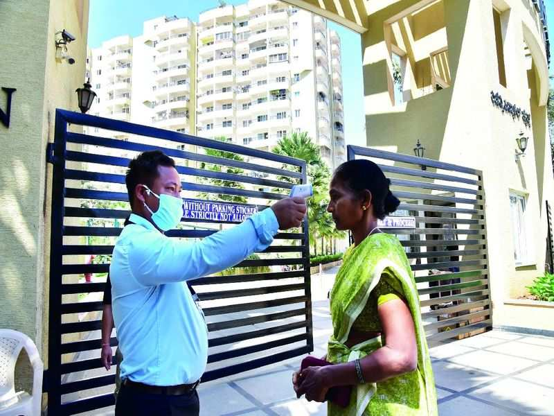 Now, it is a total lockdown at Bengaluru's apartment complexes