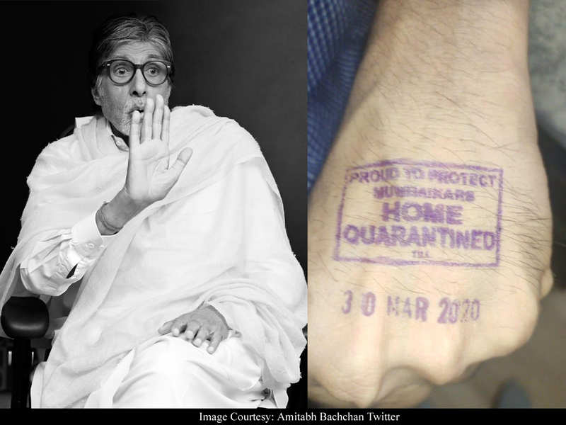 Amitabh Bachchan clarifies he has NOT been home quarantined: The hand picture is of someone else