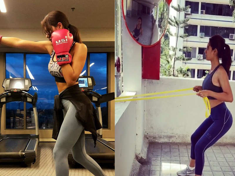 Watch: Sonam Bajwa makes the most of her quarantine time by working out at home