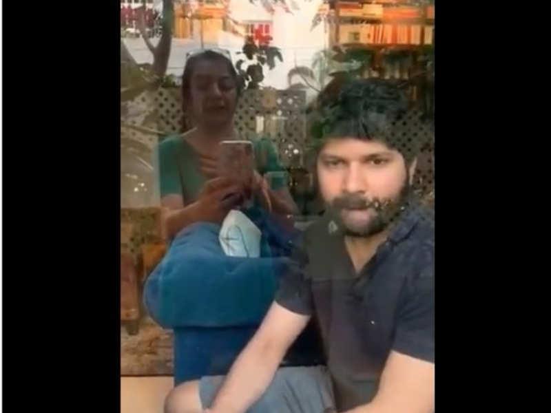 Suhasini posts video of Nandan Mani Ratnam isolating himself