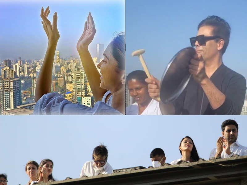 Amitah Bachchan to Karan Johar and Deepika Padukone: Bollywood celebrities cheer from their balconies as they observe #JantaCurfew