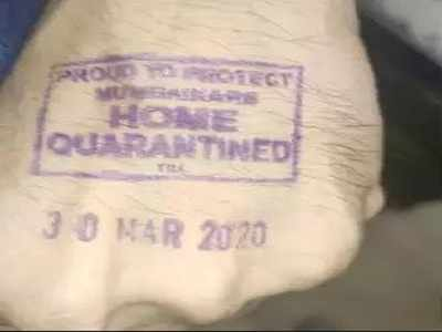 Image result for home quarantine stamp