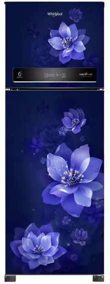 Whirlpool IntelliFresh 265 L Frost Free Double Door Refrigerator(5 In 1 Convertible Freezer, Inverter Compressor, Sapphire Mulia, 3 Star, 10 Years Warranty )