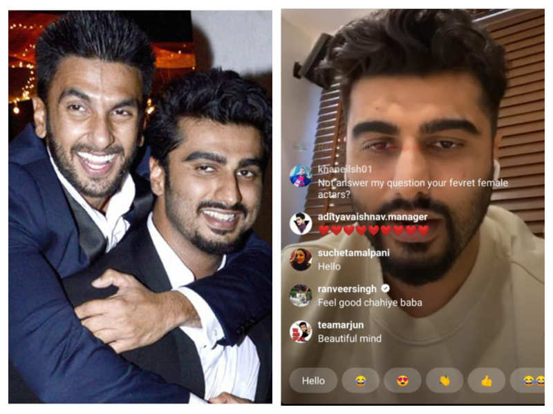 When Ranveer Singh stole the thunder from Arjun Kapoor's during his live chat with fans on Instagram