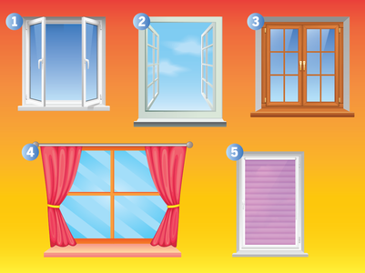 Choose a window and we will reveal an interesting fact about your personality