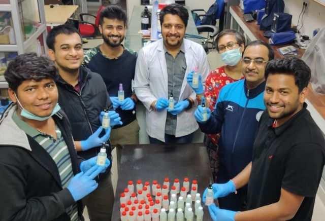 IIT Roorkee students make around 1,500 bottles of hand sanitiser