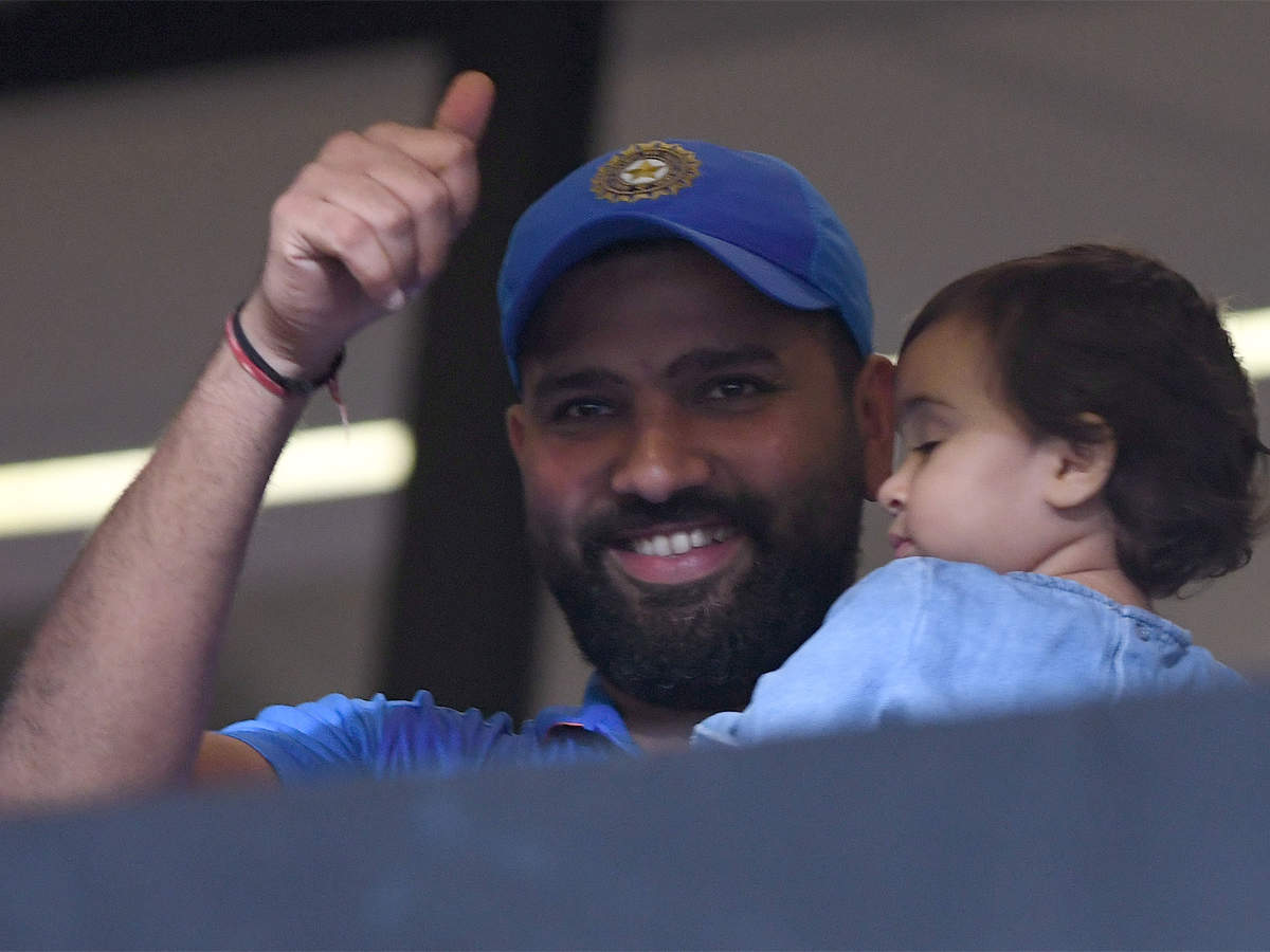 Coach Rohit Sharma Gives Daughter Samaira Batting Lesson Cricket News Times Of India