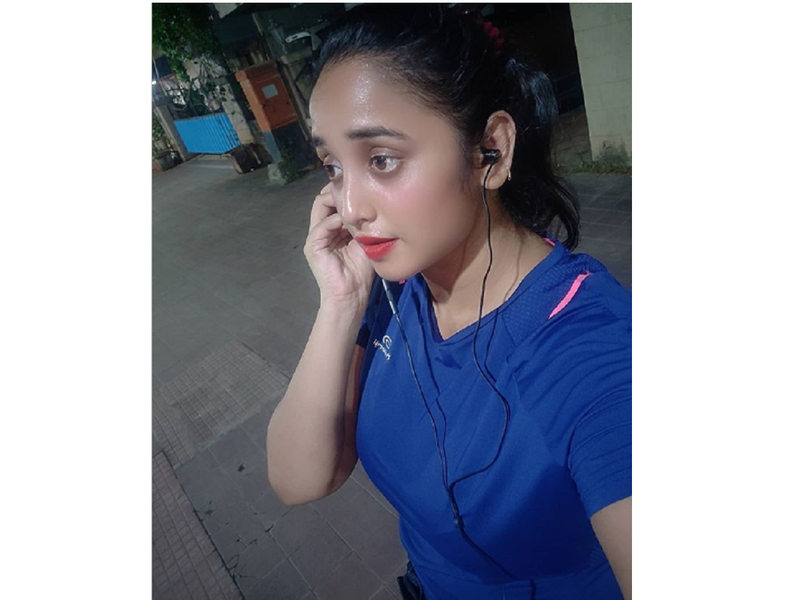 Rani Chatterjee uses stairs as a substitute for a treadmill for her home workout