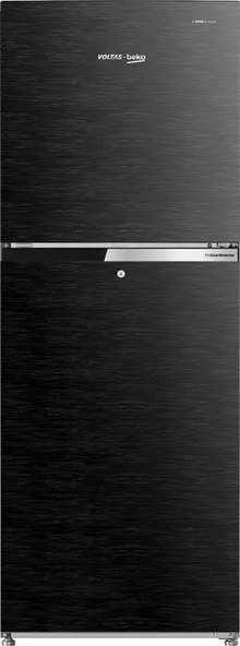 Voltas 231 L 2 Star Frost Free Double Door Refrigerator (Wooden Black) RFF2553XBC