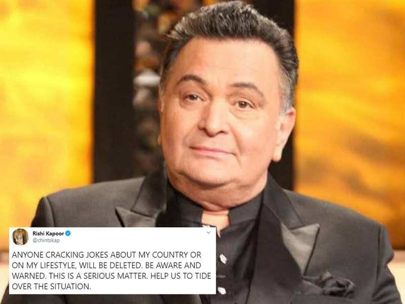 Rishi Kapoor issues a strict warning to his Twitter followers for commenting on his country and lifestyle