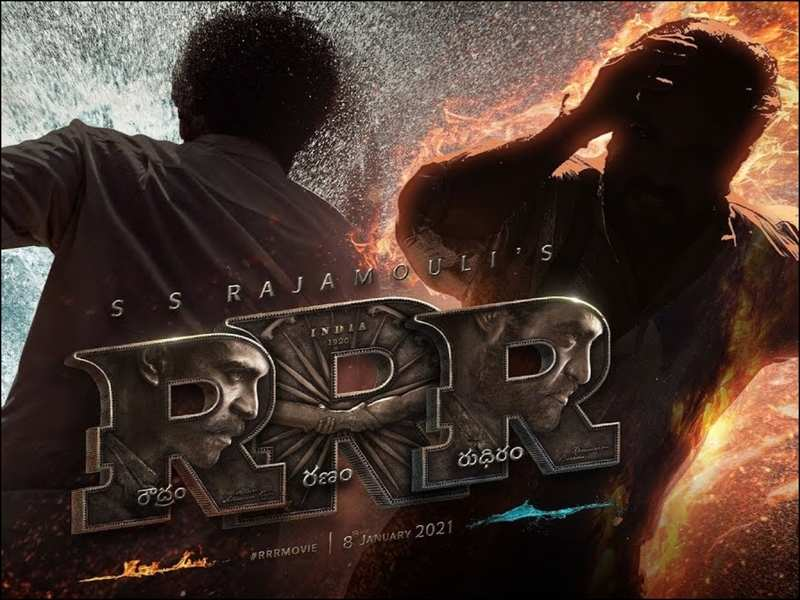 Rrr Motion Poster: Ram Charan And Ntr Join Forces As Fire And Water In  'Roudram Ranam Rudhiram' | Telugu Movie News - Times Of India
