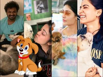 Tollywood actors spend time with their furry friends