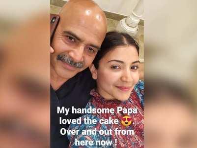 Lockdown: Anushka bakes bday cake for her dad