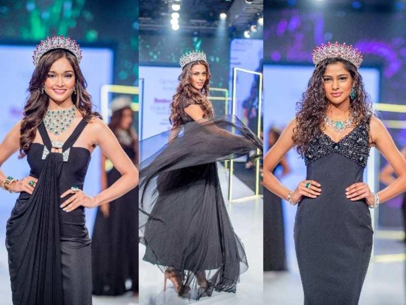 LIVA Miss Diva Universe 2020 Adline Castelino, LIVA Miss Diva Supranational 2020 Aavriti Choudhary and LIVA Miss Diva 2020 Runner-up Neha Jaiswal
