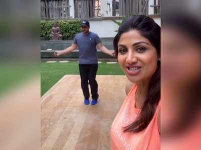 Shilpa shares a video featuring her hubby Raj