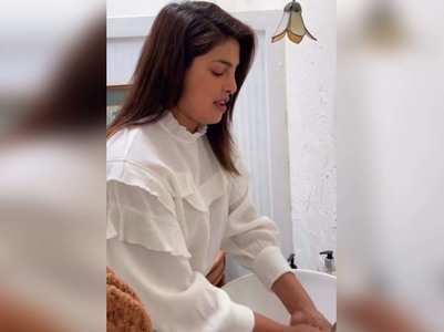 Vid: Priyanka takes up the #SafeHandsChallenge